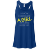 Apparel Bella+Canvas Juniors Flowy Racerback Tank / True Royal / Small I Know I Hike Like a Girl! Flowy Tank
