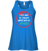 Apparel Bella Women's Flowy Tank / True Royal / S Drink Wine And Go Hiking