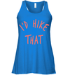 Apparel Bella Women's Flowy Tank / True Royal / S I'd Hike That - Brand