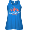Apparel Bella Women's Flowy Tank / True Royal / S I'd Hike That Retro - Coral