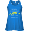 Apparel Bella Women's Flowy Tank / True Royal / S Try And Keep Up