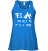 Apparel Bella Women's Flowy Tank / True Royal / S Yes I Can Help