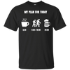 Apparel Custom Ultra Cotton T-Shirt / Black / Small My Plan for Today - Basic Tee