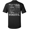 Apparel Custom Ultra Cotton T-Shirt / Black / Small When I'm In The Mountains...(Back) - Basic Tee