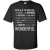 Apparel Custom Ultra Cotton T-Shirt / Black / Small When I'm in the Mountains...(Front) - Basic Tee