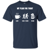 Apparel Custom Ultra Cotton T-Shirt / Navy / Small My Plan for Today - Basic Tee