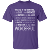 Apparel Custom Ultra Cotton T-Shirt / Purple / Small When I'm in the Mountains...(Front) - Basic Tee