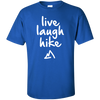 Apparel Custom Ultra Cotton T-Shirt / Royal / Small Live Laugh Hike - Basic Tee