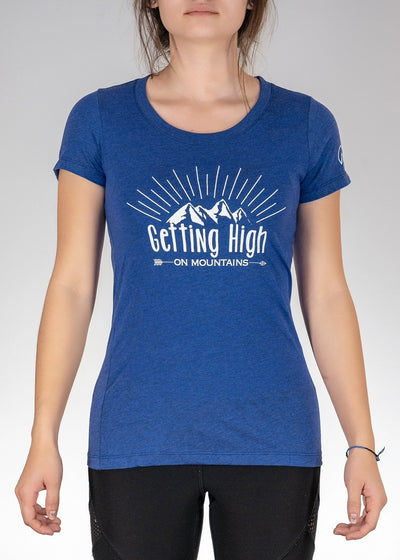 Apparel .Getting High on Mountains! Tee - Navy Triblend