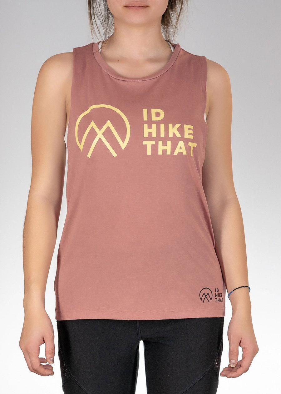 Apparel Flowy Muscle Tank / Salmon / S I'd Hike That Logo! Muscle Tank - Mauve
