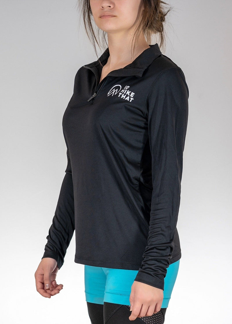 Apparel .I'd Hike That Logo! Quarter Zip - Black