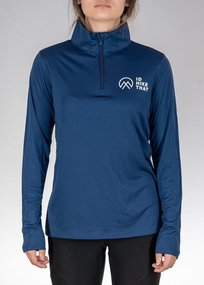 Apparel .I'd Hike That Logo! Quarter Zip - Sport Dark Navy