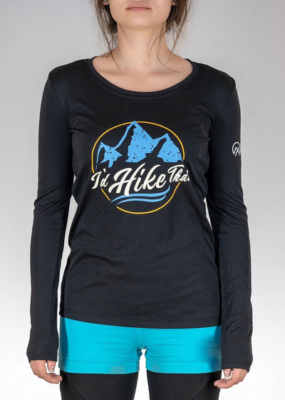 Apparel .I'd Hike That Retro! Long Sleeve - Black