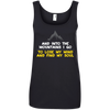Apparel Ladies' 100% Ringspun Cotton Tank Top / Black / Small And Into the Mountains I Go! Tank Top