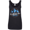 Apparel Ladies' 100% Ringspun Cotton Tank Top / Black / Small I'd Hike That - Cotton Tank Top