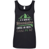 Apparel Ladies' 100% Ringspun Cotton Tank Top / Black / Small If it Involves Mountains, Coffee or Beer... Count Me In!