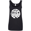Apparel Ladies' 100% Ringspun Cotton Tank Top / Black / Small Say Yes to Adventure! Cotton Tank Top