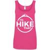 Apparel Ladies' 100% Ringspun Cotton Tank Top / Hot Pink / Small I'd Hike That! Cotton Tank Top