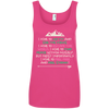 Apparel Ladies' 100% Ringspun Cotton Tank Top / Hot Pink / Small I Hike to Get Fit! Cotton Tank Top