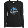 Apparel Ladies Long Sleeve Performance Vneck Tee / Black / Small I'd Hike That!  Long Sleeve
