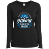 Apparel Ladies Long Sleeve Performance Vneck Tee / Black / Small I Go Hiking to Burn off the Crazy!! Long Sleeve