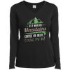 Apparel Ladies Long Sleeve Performance Vneck Tee / Black / Small If it Involves Mountains, Coffee or Beer... Count Me In!