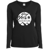 Apparel Ladies Long Sleeve Performance Vneck Tee / Black / Small Say Yes to Adventure! Long Sleeve