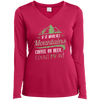 Apparel Ladies Long Sleeve Performance Vneck Tee / Pink Raspberry / Small If it Involves Mountains, Coffee or Beer... Count Me In!