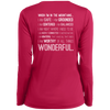 Apparel Ladies Long Sleeve Performance Vneck Tee / Pink Raspberry / Small When I'm In The Mountains...(Back)!  Long Sleeve