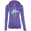 Apparel Ladies LS T-Shirt Hoodie / Heather Purple/Neon Yellow / Small Forget the Gym...I Wanna go Hiking!  T-Shirt Hoodie