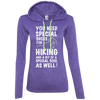Apparel Ladies LS T-Shirt Hoodie / Heather Purple/Neon Yellow / Small You Need Special Shoes for Hiking
