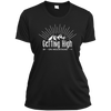 Apparel Ladies Short Sleeve Moisture-Wicking Shirt / Black / Small Getting High on Mountains! Athletic Tee