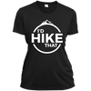 Apparel Ladies Short Sleeve Moisture-Wicking Shirt / Black / Small I'd Hike That! Athletic Tee