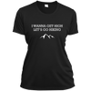 Apparel Ladies Short Sleeve Moisture-Wicking Shirt / Black / Small I Wanna Get High...Let's Go Hiking! Athletic Tee