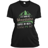 Apparel Ladies Short Sleeve Moisture-Wicking Shirt / Black / Small If it Involves Mountains, Coffee or Beer... Count Me In!