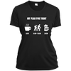 Apparel Ladies Short Sleeve Moisture-Wicking Shirt / Black / Small My Plan for Today! Athletic Tee