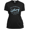 Apparel Ladies Short Sleeve Moisture-Wicking Shirt / Black / Small The Mountains are Calling and I Must Go. - John Muir - Athletic Tee