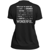 Apparel Ladies Short Sleeve Moisture-Wicking Shirt / Black / Small When I'm In The Mountains...(Back) - Athletic Tee