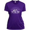 Apparel Ladies Short Sleeve Moisture-Wicking Shirt / Purple / Small Getting High on Mountains! Athletic Tee