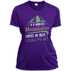 Apparel Ladies Short Sleeve Moisture-Wicking Shirt / Purple / Small If it Involves Mountains, Coffee or Beer... Count Me In!