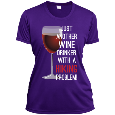 Apparel Ladies Short Sleeve Moisture-Wicking Shirt / Purple / Small Just Another Wine Drinker... Athletic Tee