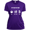 Apparel Ladies Short Sleeve Moisture-Wicking Shirt / Purple / Small My Plan for Today! Athletic Tee