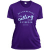 Apparel Ladies Short Sleeve Moisture-Wicking Shirt / Purple / Small The Mountains are Calling and I Must Go. - John Muir - Athletic Tee