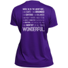Apparel Ladies Short Sleeve Moisture-Wicking Shirt / Purple / Small When I'm In The Mountains...(Back) - Athletic Tee