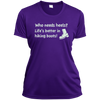 Apparel Ladies Short Sleeve Moisture-Wicking Shirt / Purple / Small Who Needs Heels? Life's Better in Hiking Boots!