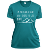 Apparel Ladies Short Sleeve Moisture-Wicking Shirt / Tropical Blue / Small I'm the Kind of Girl Who Likes to Get Dirty! Athletic Tee
