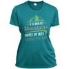 Apparel Ladies Short Sleeve Moisture-Wicking Shirt / Tropical Blue / Small If it Involves Mountains, Coffee or Beer... Count Me In!