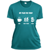 Apparel Ladies Short Sleeve Moisture-Wicking Shirt / Tropical Blue / Small My Plan for Today! Athletic Tee