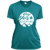 Apparel Ladies Short Sleeve Moisture-Wicking Shirt / Tropical Blue / Small Say Yes to Adventure! Athletic Tee