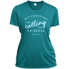 Apparel Ladies Short Sleeve Moisture-Wicking Shirt / Tropical Blue / Small The Mountains are Calling and I Must Go. - John Muir - Athletic Tee